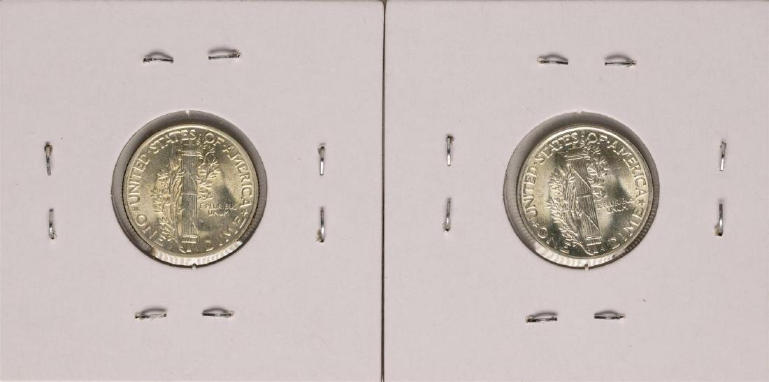 Lot of 1944-1945 Mercury Dime Coins - 2