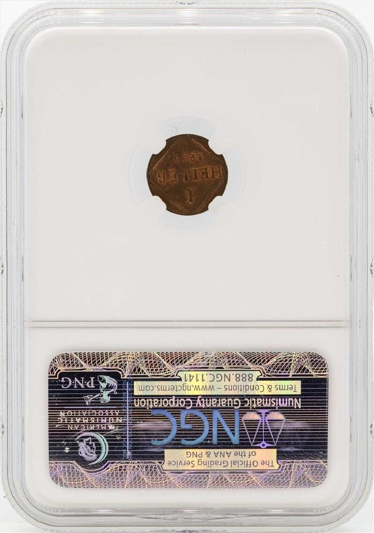 1829 Germany Heller Bavaria Coin NGC MS64RB - 2