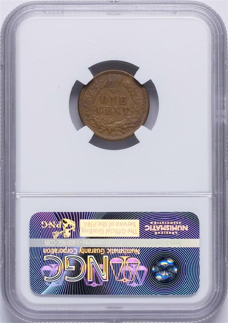 1877 Indian Head Cent Coin NGC XF45 BN - 2