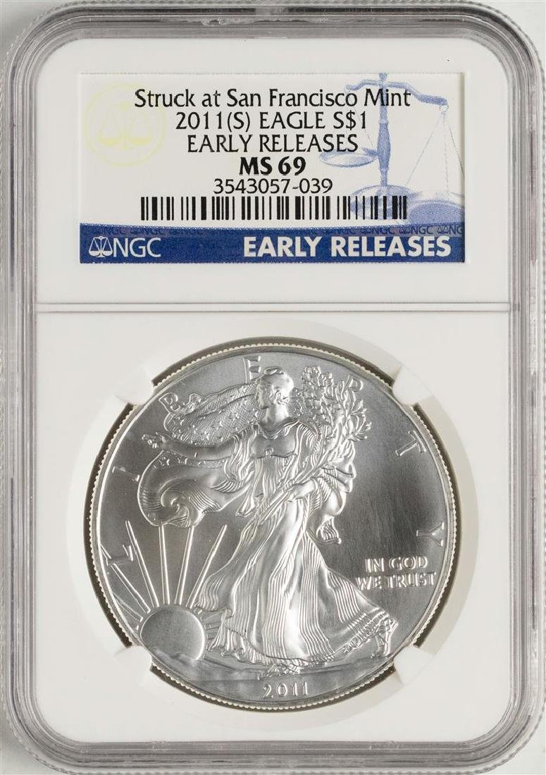 2011-(S) $1 American Silver Eagle Coin NGC MS69 Early