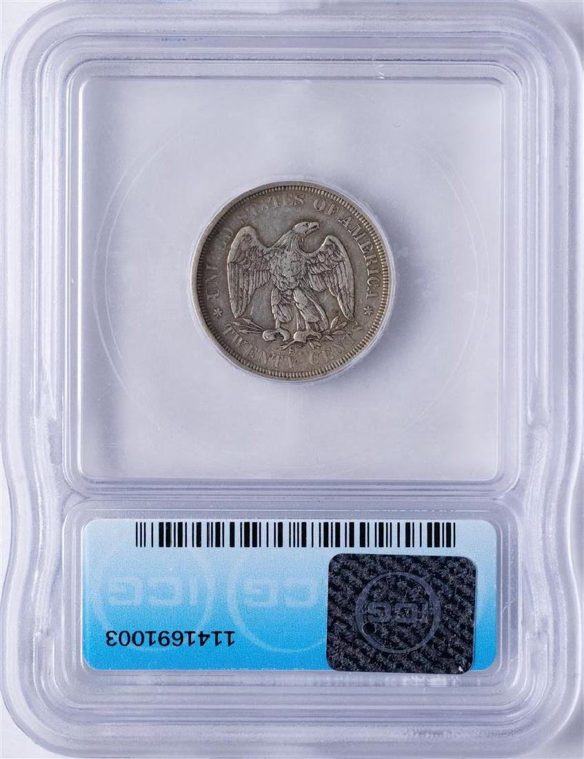 1875-S Twenty Cent Piece Coin ICG VF30 - 2