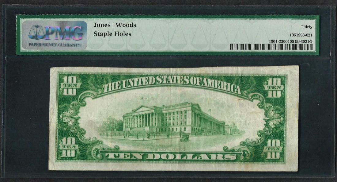 1929 $10 National Currency Note Waseca, MN CH# 9253 PMG - 2