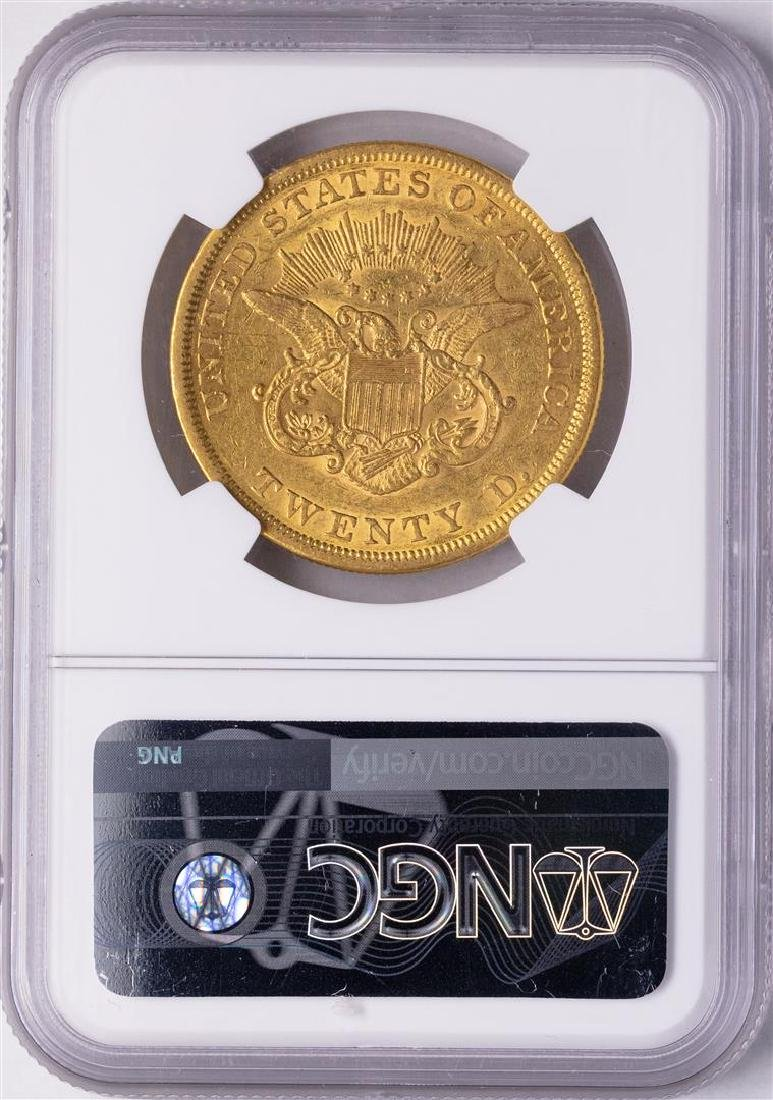 1861 $20 Liberty Head Double Eagle Gold Coin NGC XF45 - 2