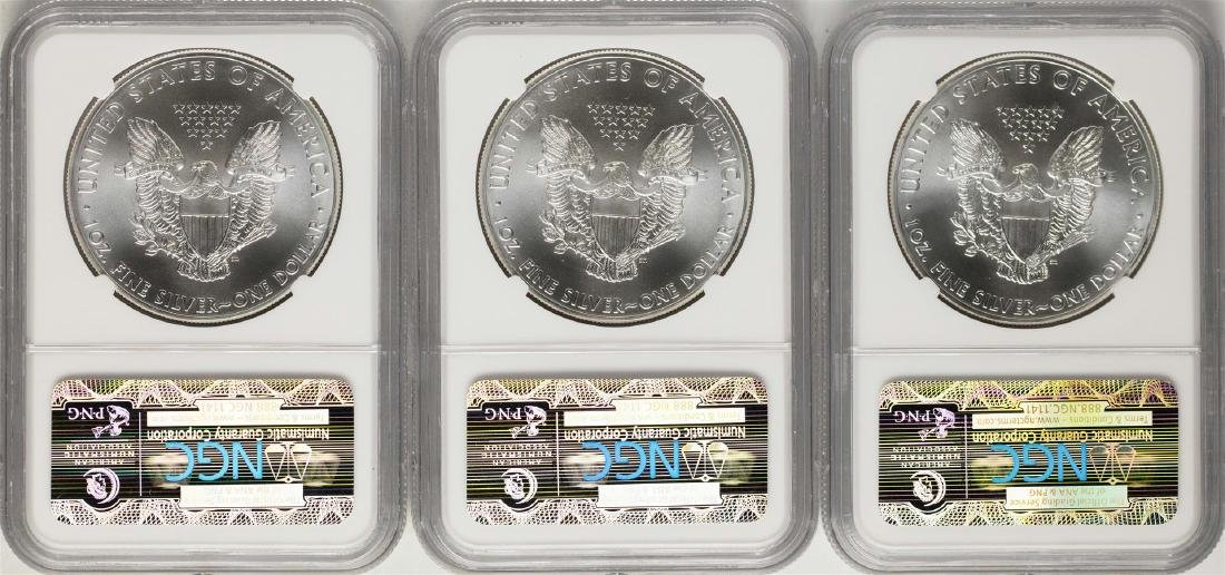 Lot of (3) 2015 $1 American Silver Eagle Coins NGC MS69 - 2