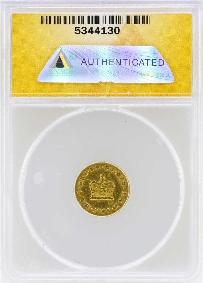 1798 Great Britain 1/3 Guinea Gold Coin ANACS XF45 - 2