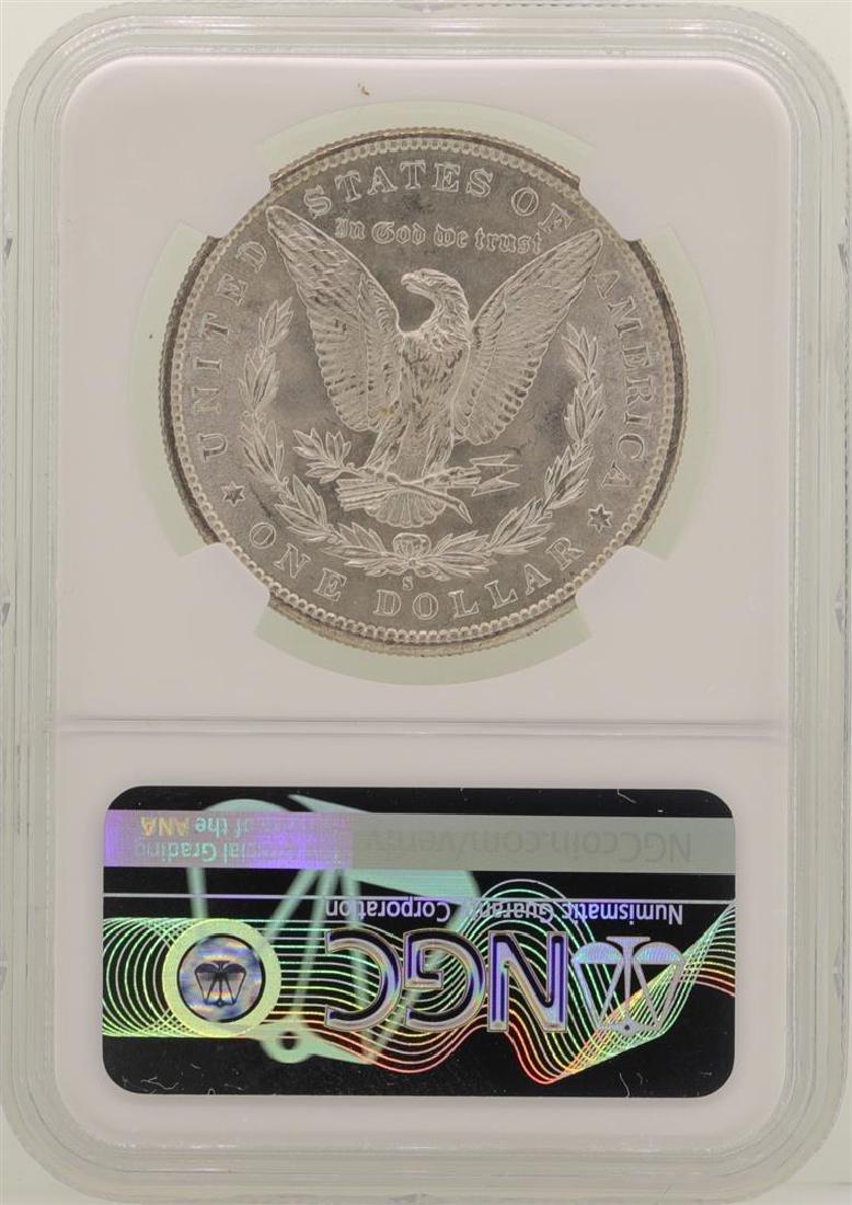 1881-S $1 Morgan Silver Dollar Coin NGC MS64 - 2