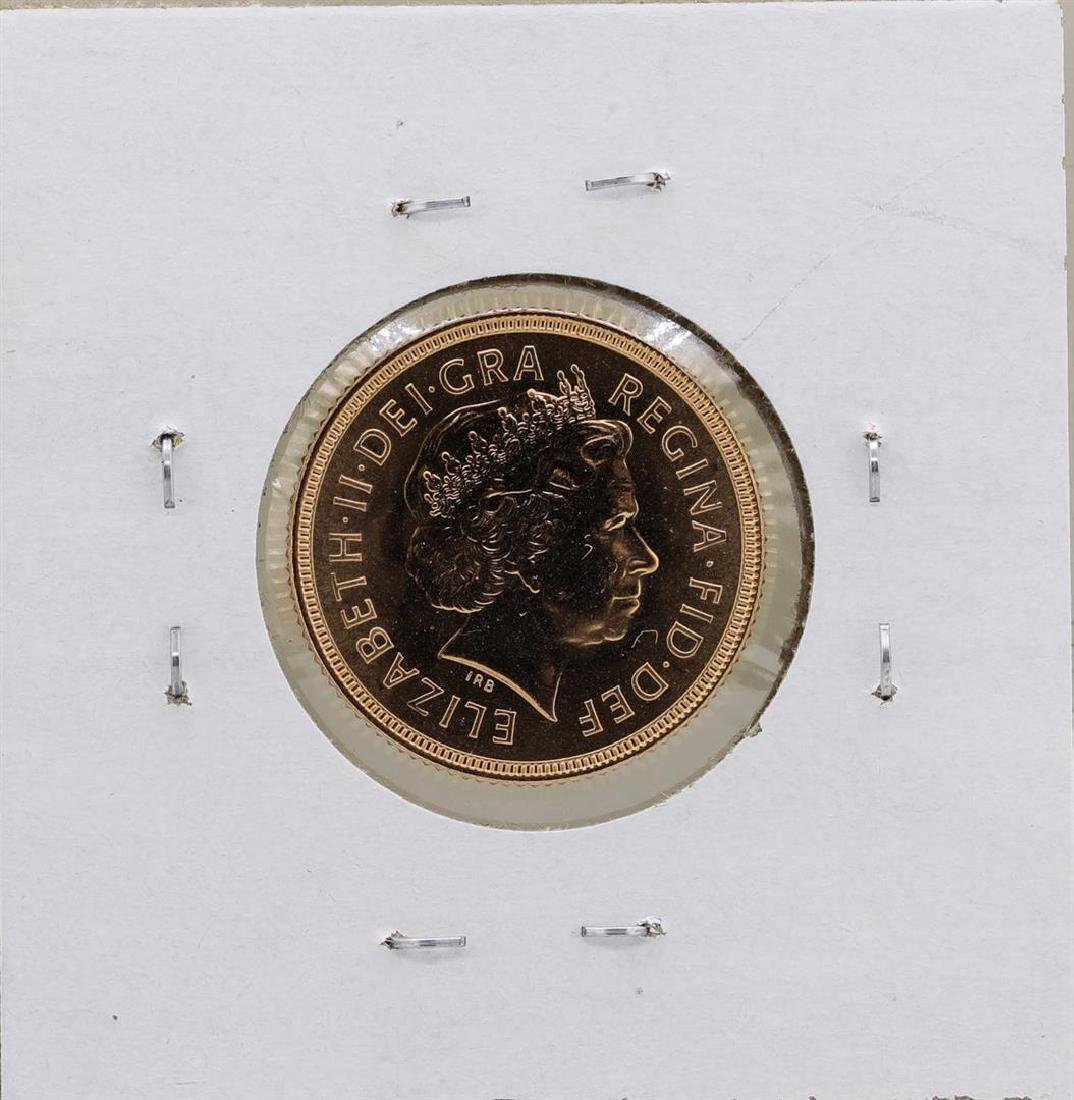 2000 Great Britain Elizabeth II Sovereign Gold Coin - 2