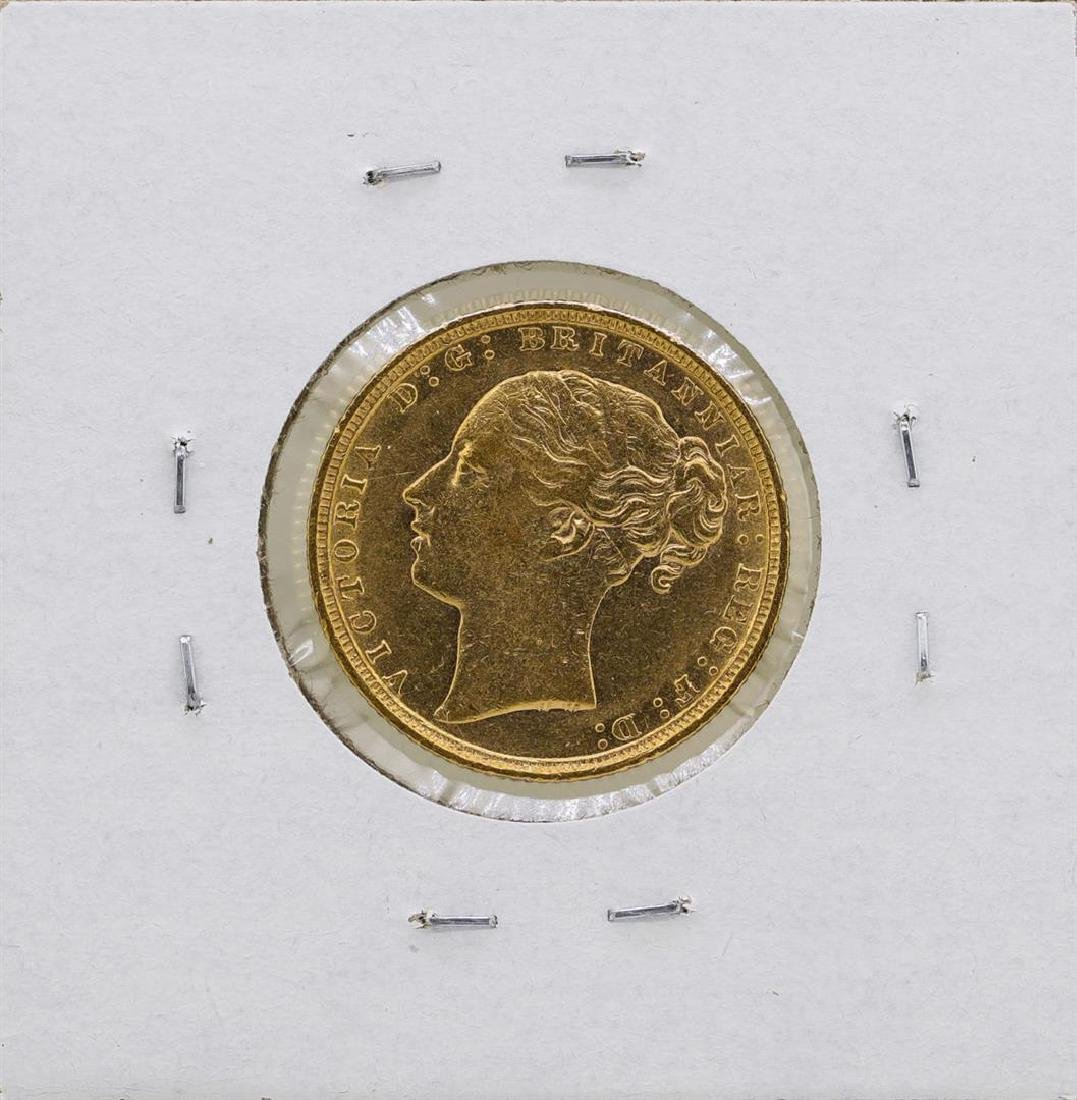 1872 Great Britain Queen Victoria Sovereign Gold Coin - 2