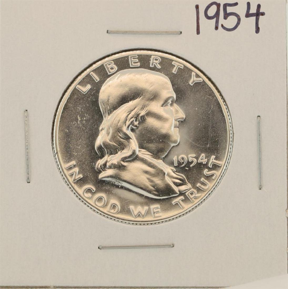 1954 Franklin Half Dollar Proof Coin
