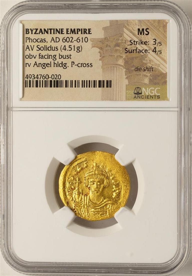 AD 602-610 Phocas Byzantine Empire Solidus Ancient Gold