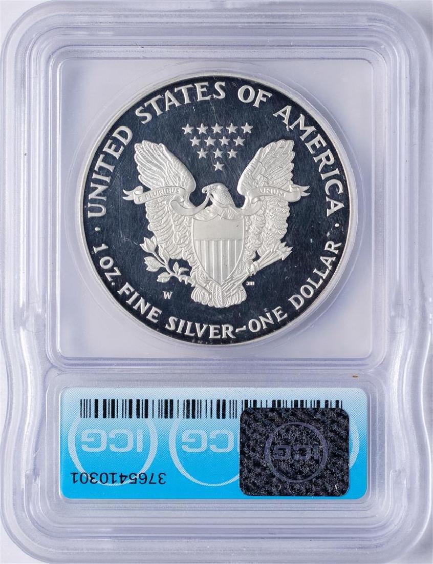 1995-W $1 American Silver Eagle Proof Coin ICG PR60 - 2