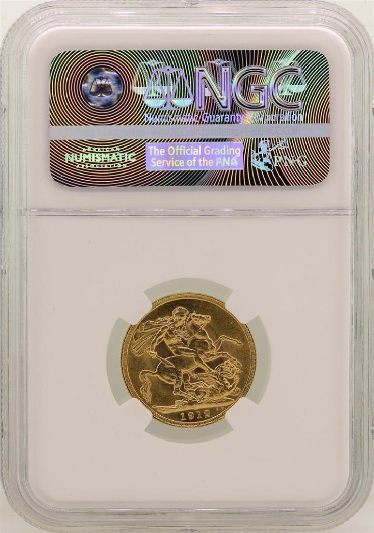 1912 Great Britain Sovereign Gold Coin NGC MS61 - 2