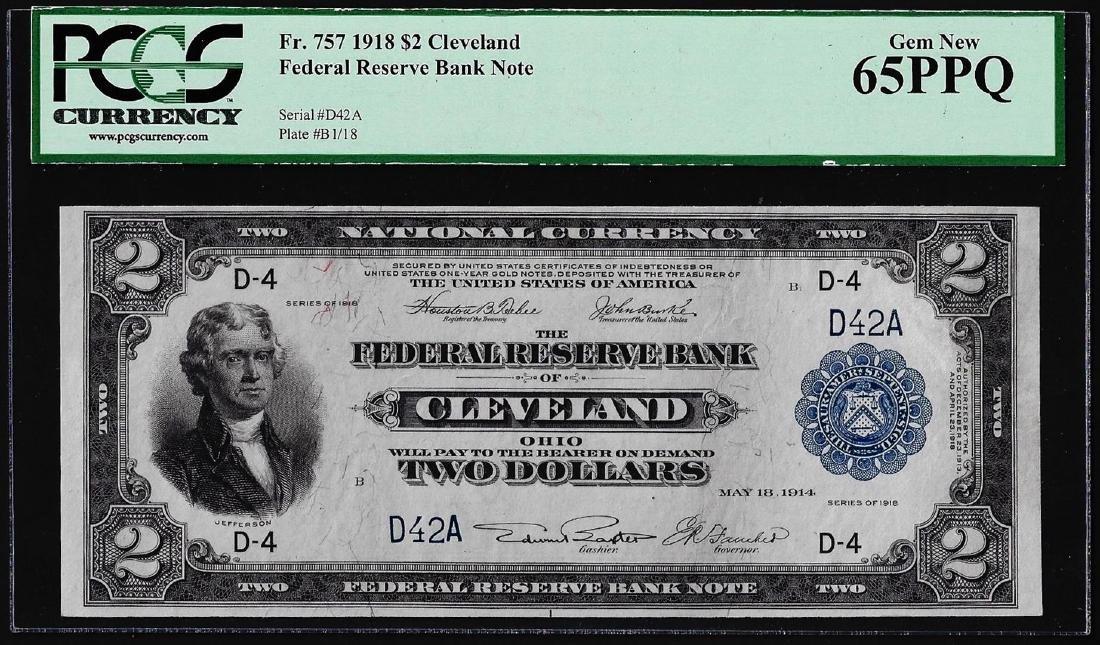 1918 $2 Battleship $2 Federal Reserve Bank Note