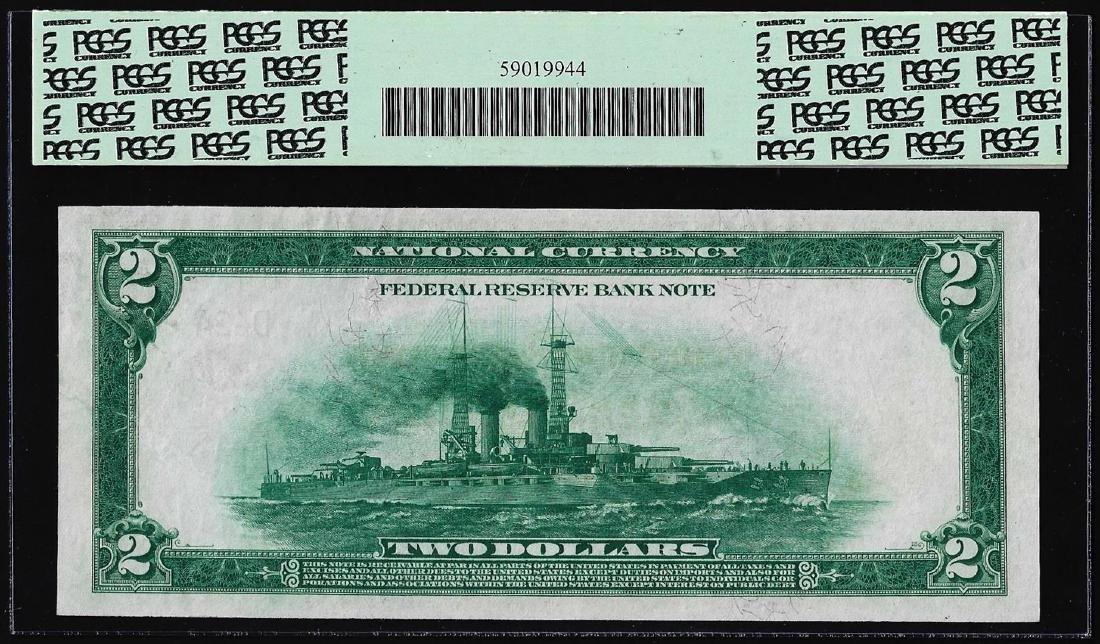 1918 $2 Battleship $2 Federal Reserve Bank Note - 2
