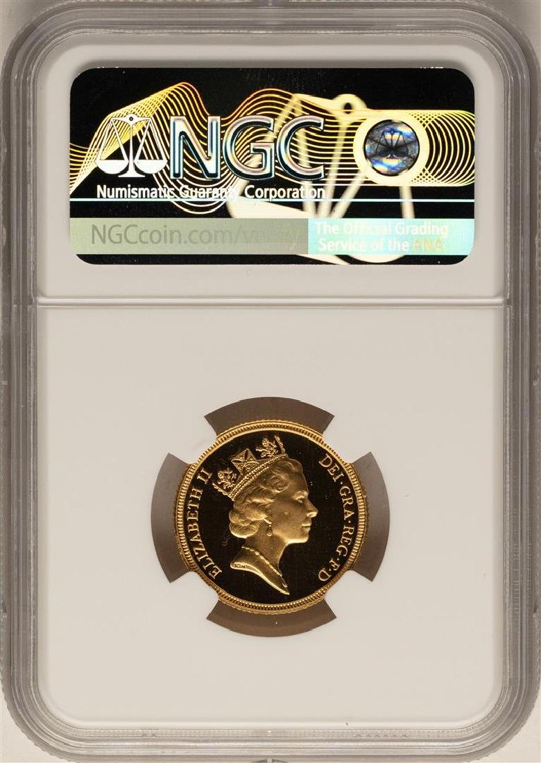 1985 Great Britain Sovereign Gold Coin NGC PF69 Ultra - 2