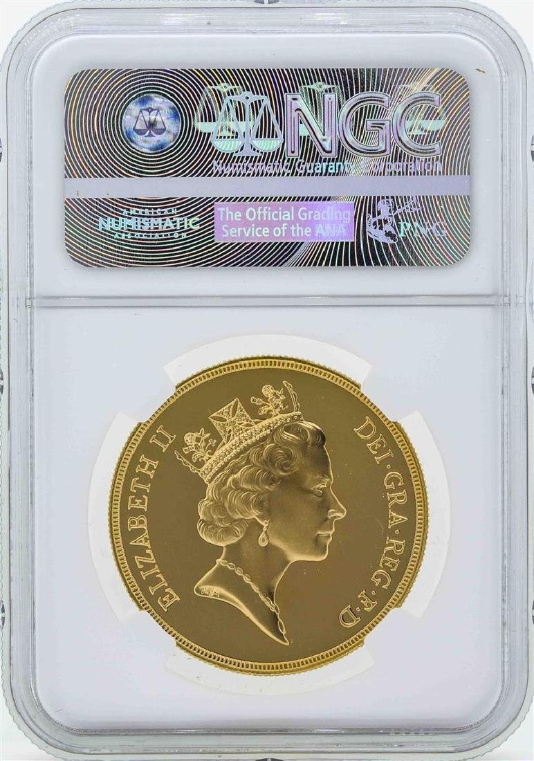 1985 Great Britain 5 Sovereign Gold Coin NGC PF69 Ultra - 2