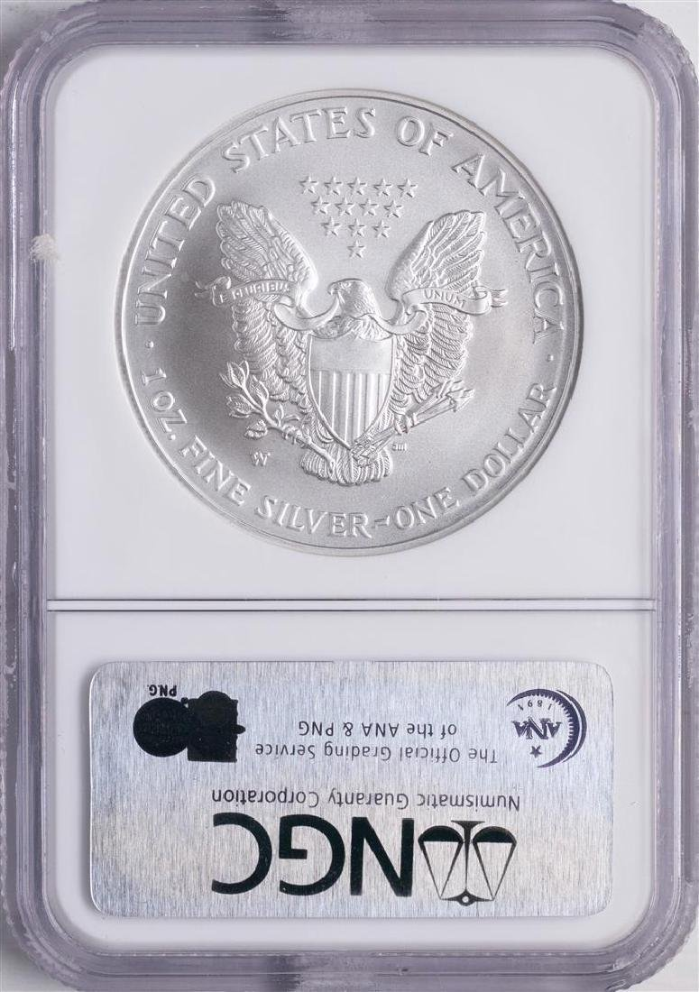 2007-W $1 American Silver Eagle Coin NGC MS70 Early - 2