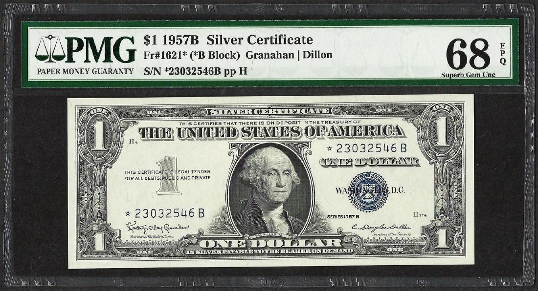 1957B $1 Silver Certificate STAR Note Fr.1621* PMG