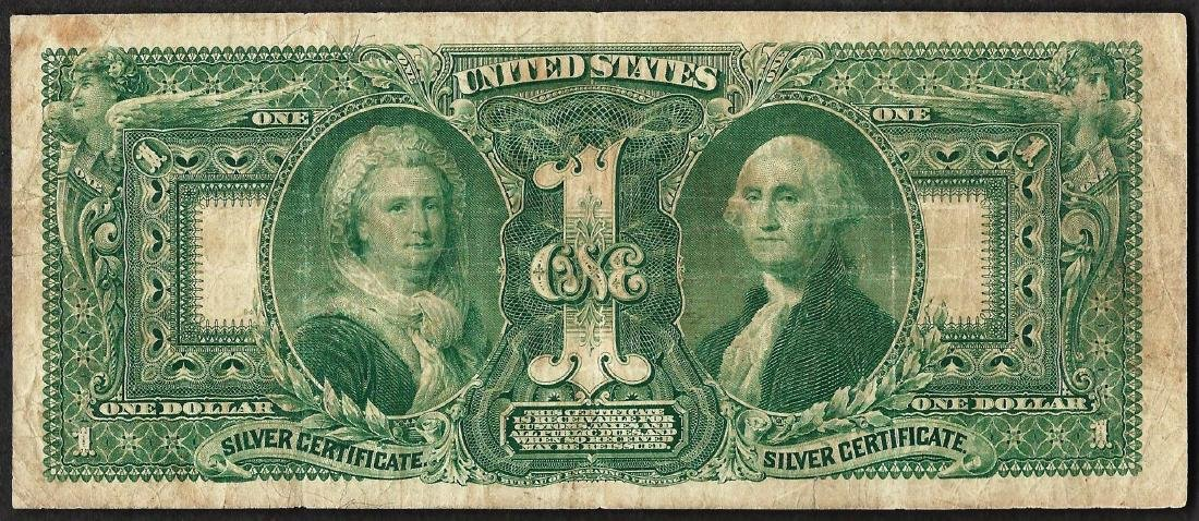1896 $1 Educational Silver Certificate Note - 2