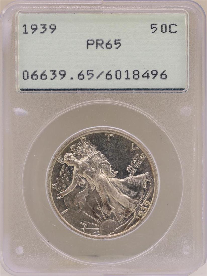 1939 Proof Walking Liberty Half Dollar Coin PCGS PR65