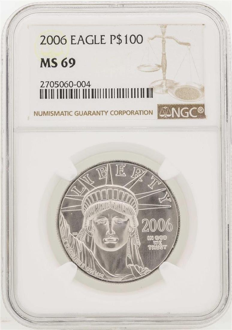 2006 $100 American Eagle Platinum Coin NGC MS69