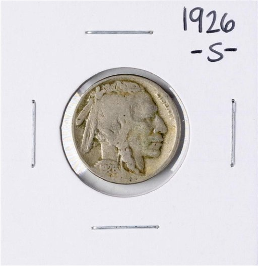 1926-S Buffalo Nickel Coin - Apr 24, 2019 | BK Auctions in CA