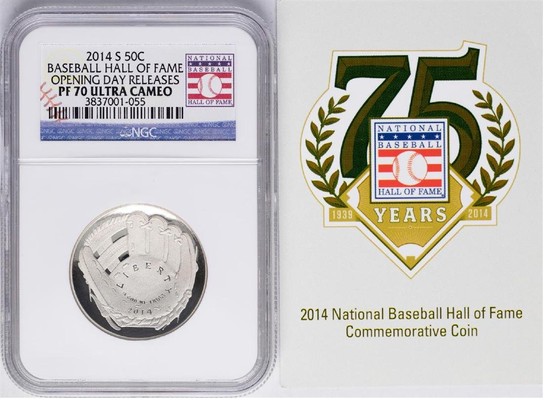 Opening Day 2014-S Proof Baseball Hall of Fame Half