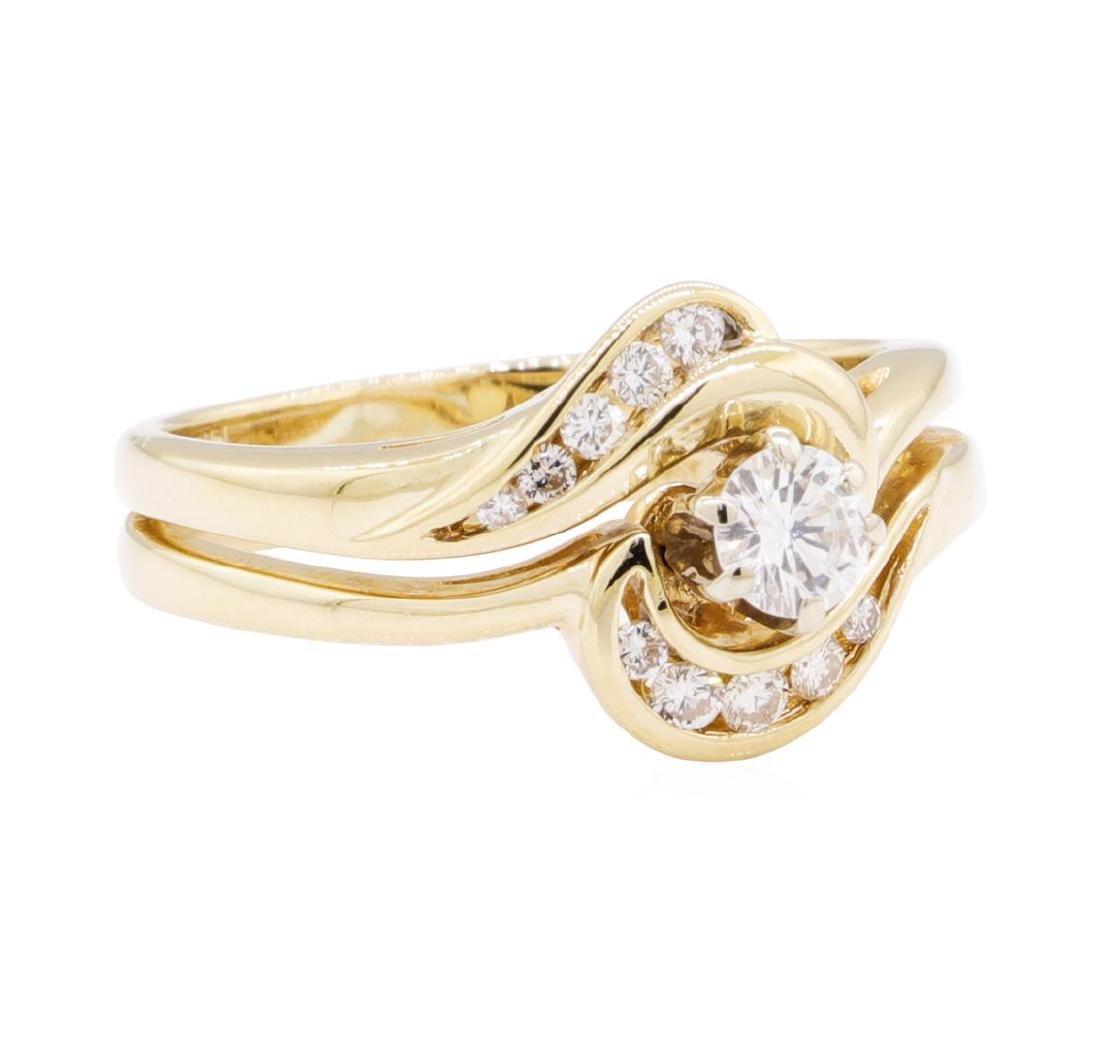 14KT Yellow Gold 0.50ctw Diamond Wedding Set