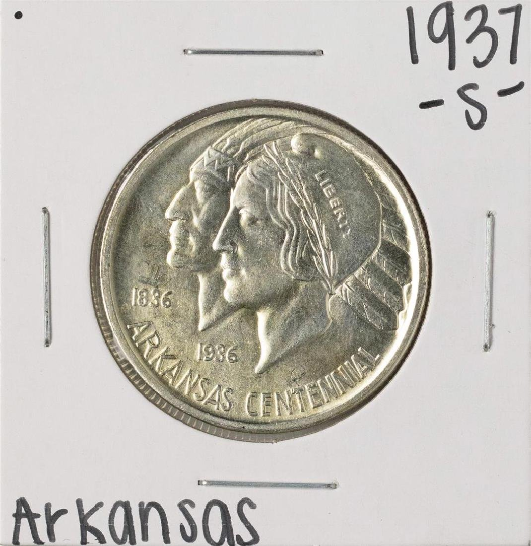 1937-S Arkansas Centennial Commemorative Half Dollar