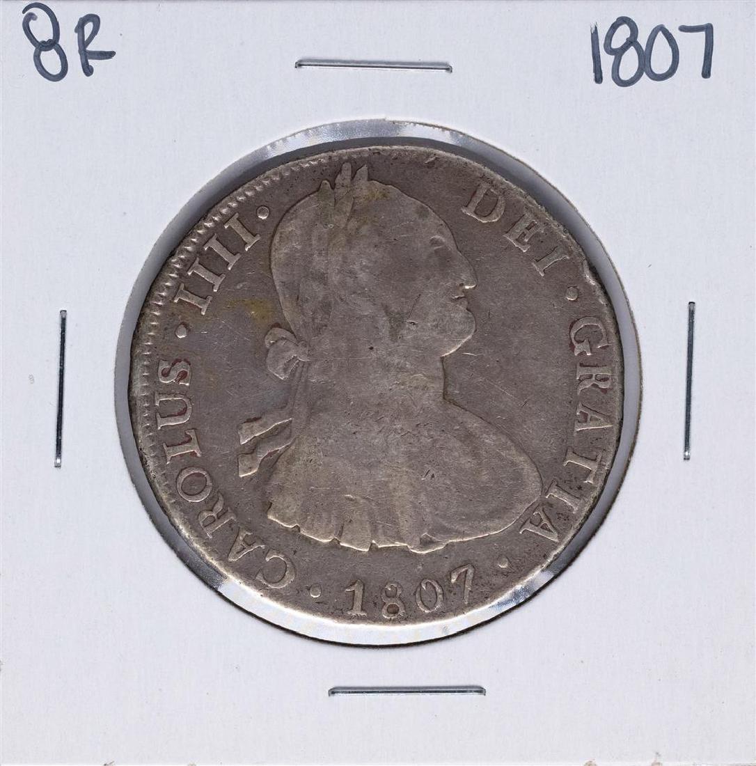 1807-PJ Bolivia 8 Reales Carolus IIII Silver Coin