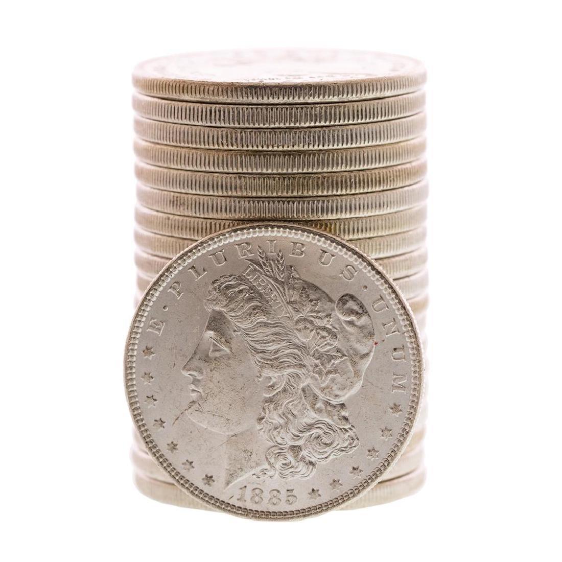 Roll of (20) Brilliant Uncirculated 1885 $1 Morgan