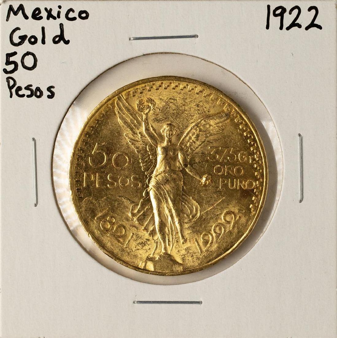 1922 Mexico 50 Pesos Gold Coin
