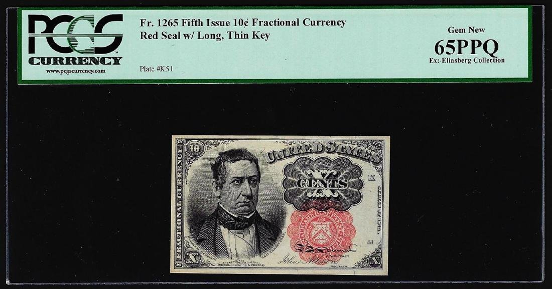1874 Fifth Issue Ten Cent Fractional Currency Note PCGS