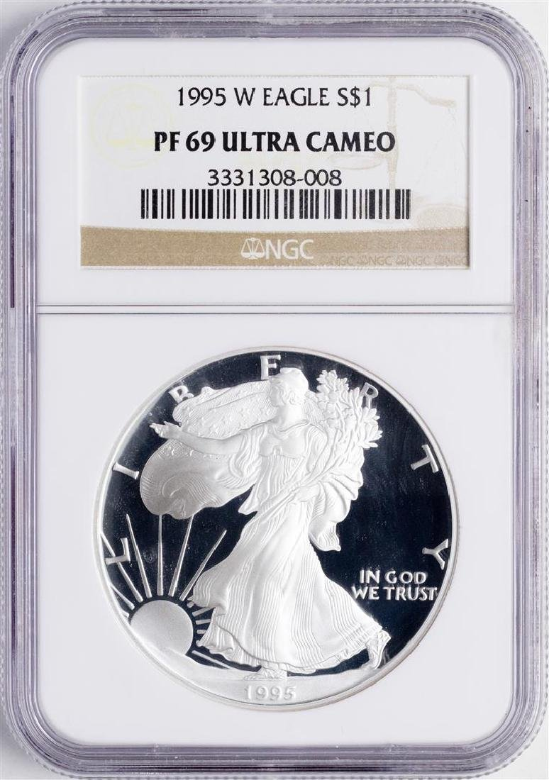 1995-W $1 Proof American Silver Eagle Coin NGC PF69