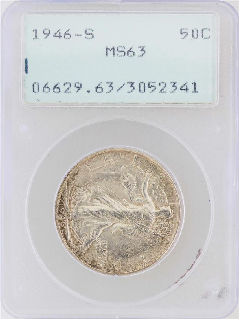 1946-S Walking Liberty Half Dollar Silver Coin PCGS
