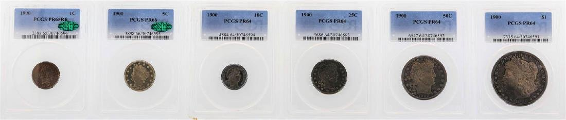 1900 (6) Coin Proof Set PCGS PR64/65/66