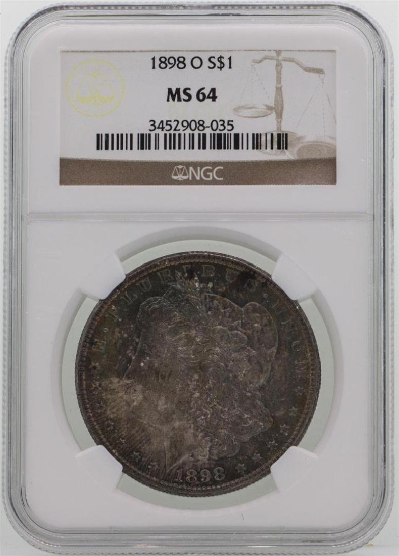 1898-O $1 Morgan Silver Dollar Coin NGC MS64 AMAZING