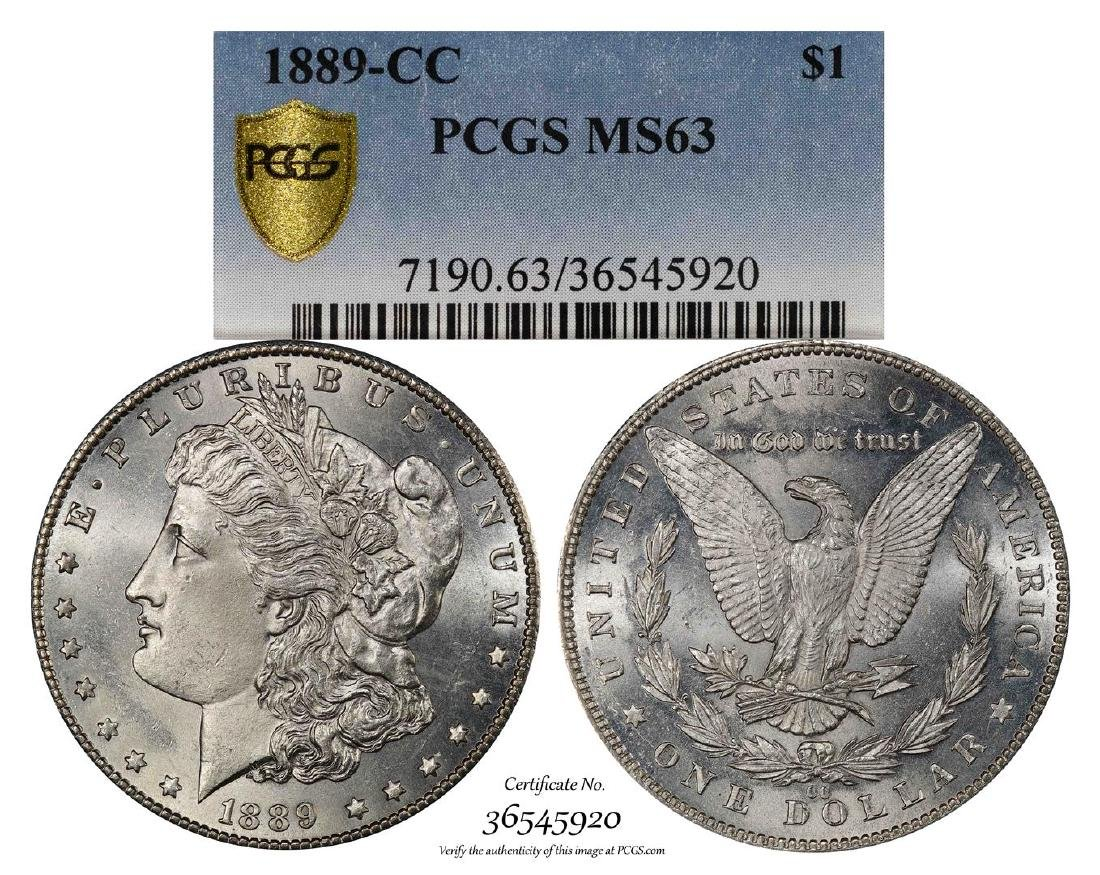1889-CC $1 Morgan Silver Dollar Coin PCGS MS63