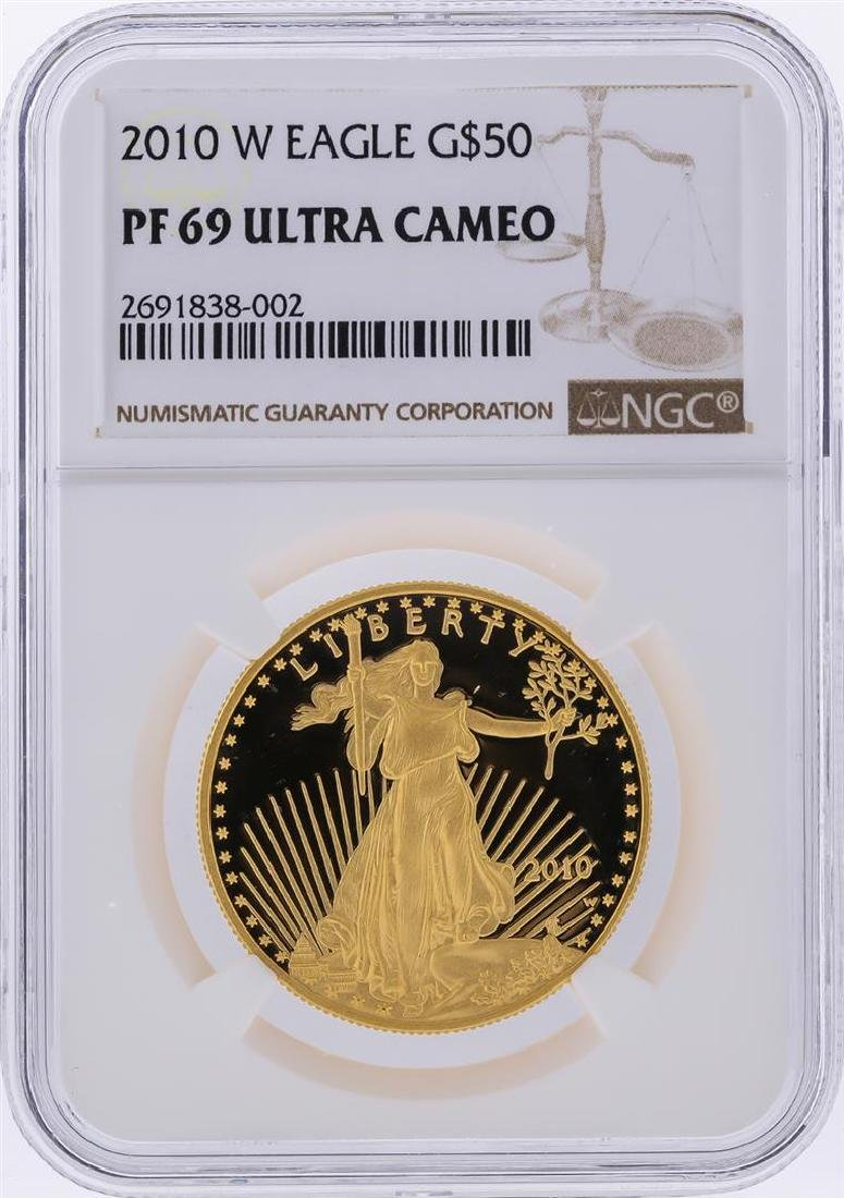 2010-W $50 American Gold Eagle Coin NGC PF69 Ultra