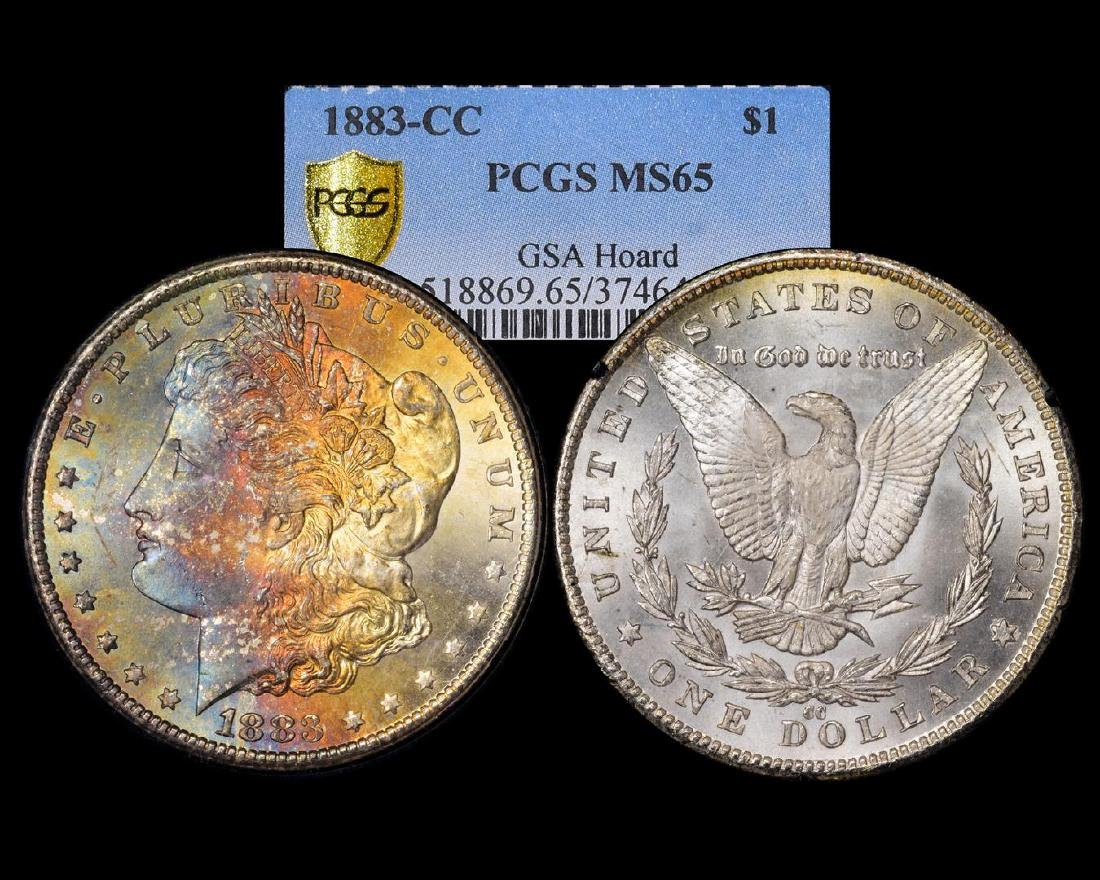 1883-CC $1 Morgan Silver Dollar Coin GSA PCGS MS65