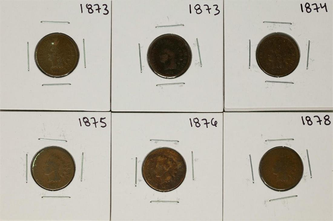 Set of 1873-1878 (No 1877) Indian Head Cent Coins