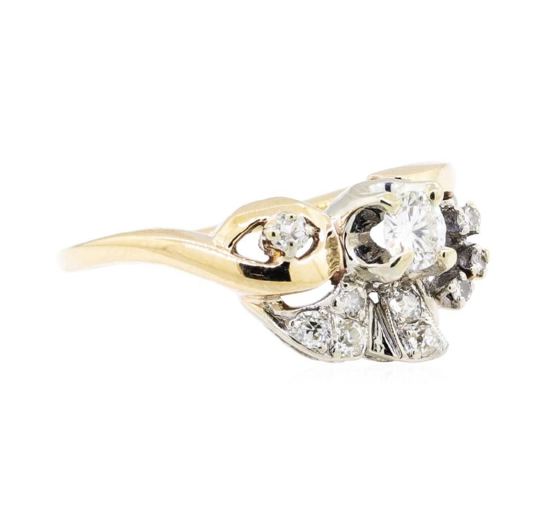 14KT Yellow Gold 0.50ctw Diamond Ring