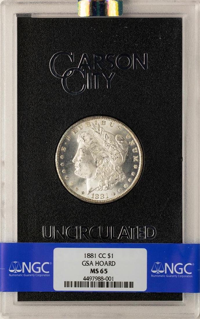 1881-CC $1 Morgan Silver Dollar Coin GSA Hoard