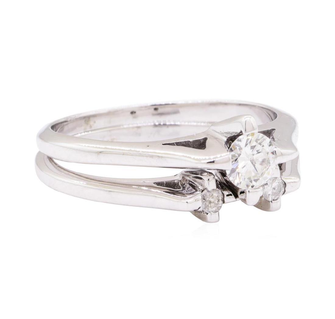 14KT White Gold 0.40ctw Diamond Wedding Set