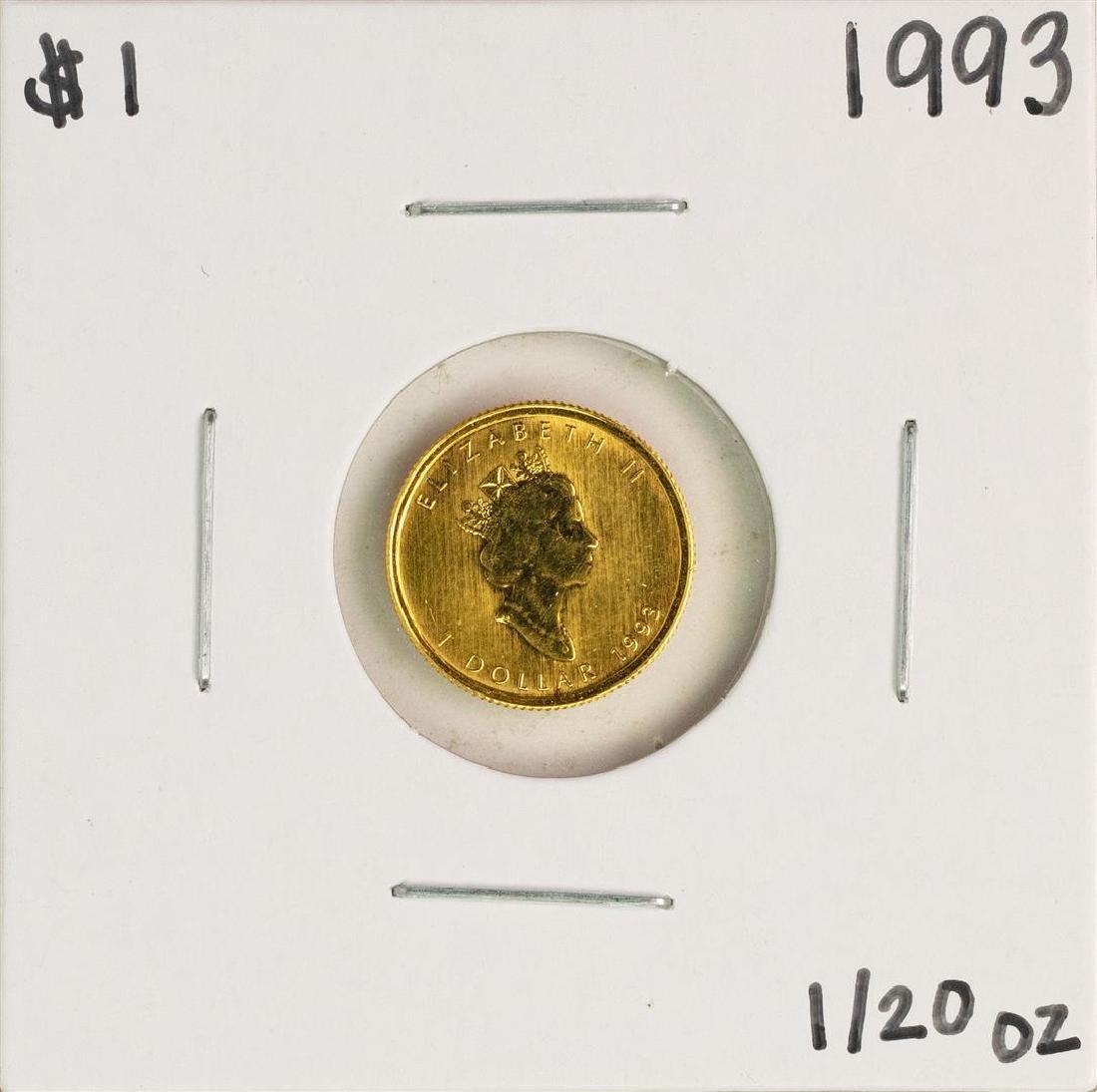 1993 $1 Canada Maple Leaf 1/20 oz Gold Coin