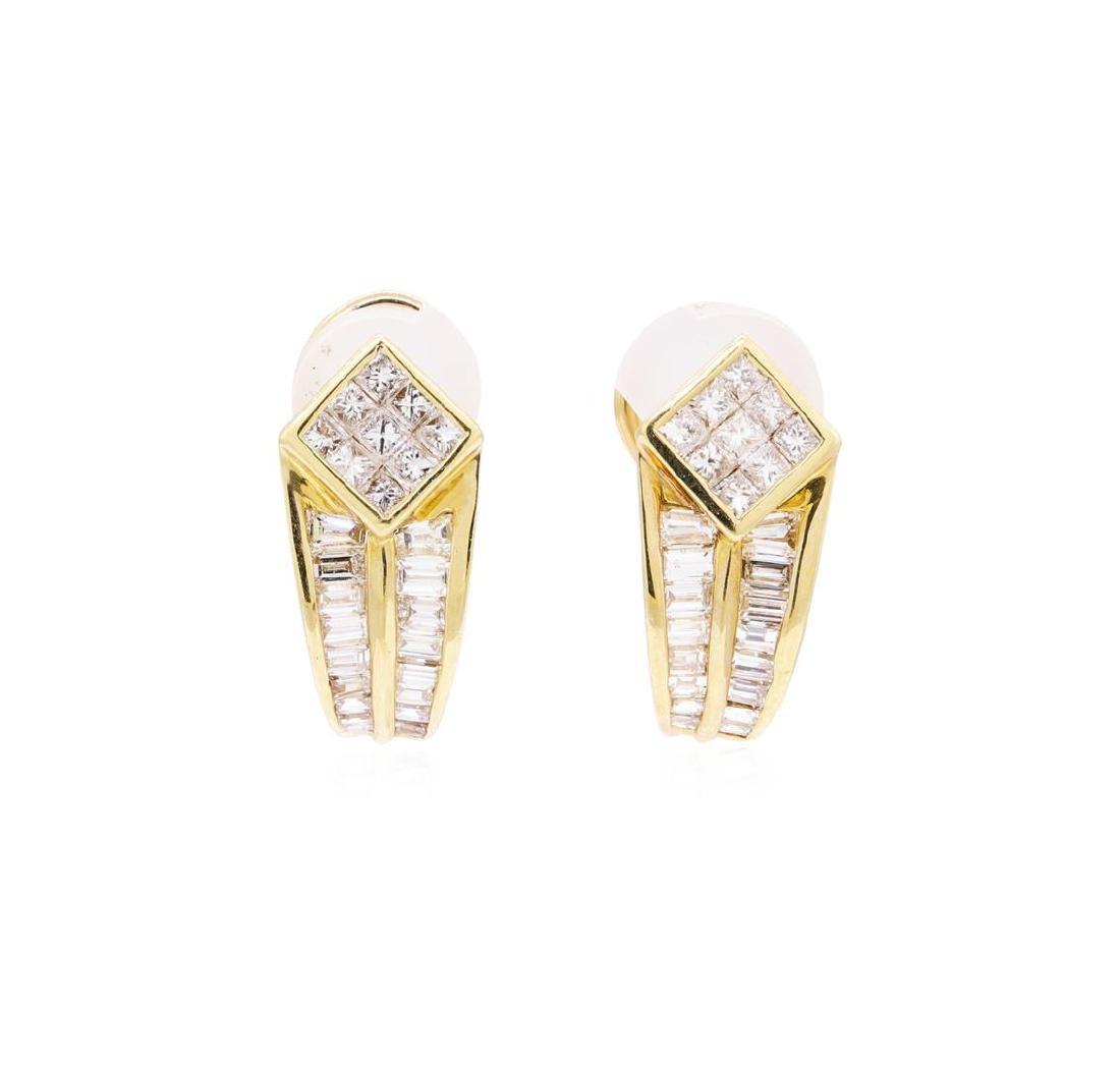 14KT Yellow Gold 2.25 ctw Diamond Earrings