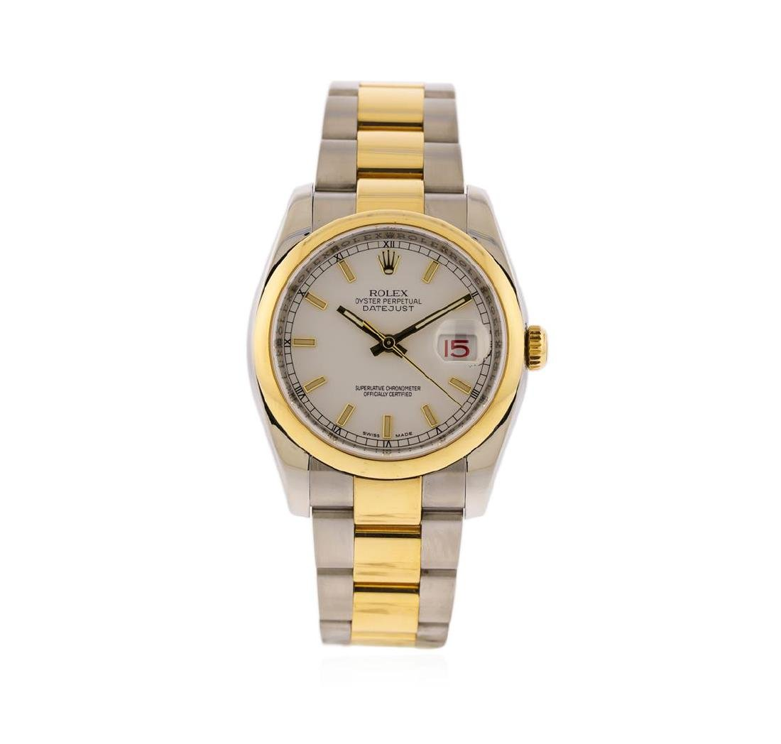 Rolex Men's Two Tone Stainless Steel & Gold Datejust