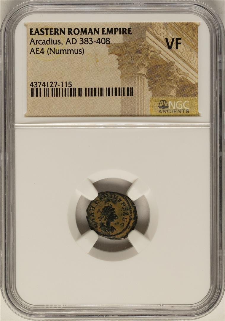 Arcadius, 383-408 AD Ancient Eastern Roman Empire Coin