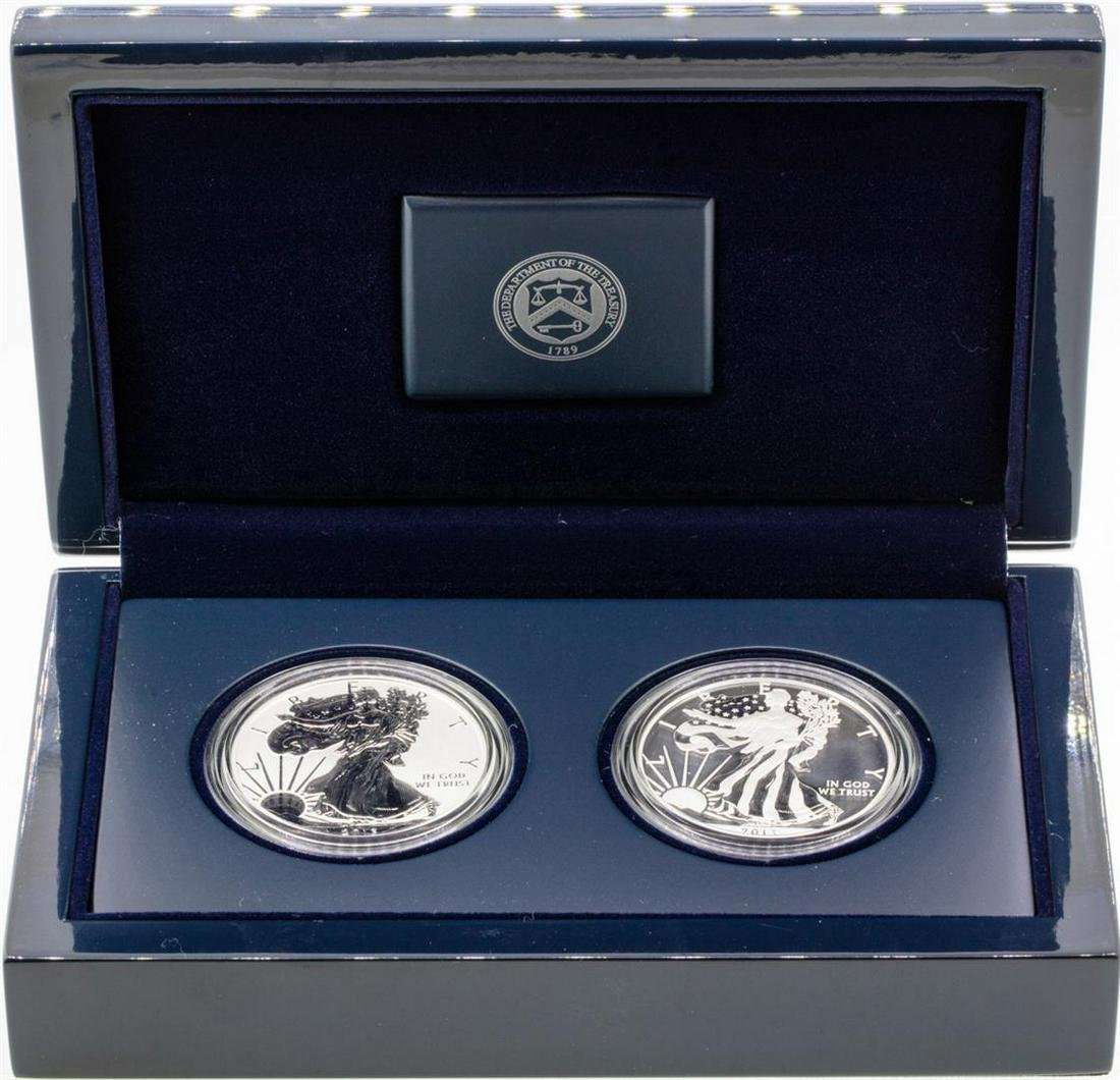 2013-W American Silver Eagle West Point (2) Coin Set w/