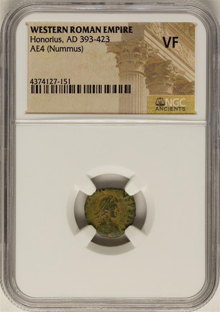 Honorius, 393-423 AD Ancient Western Roman Empire Coin